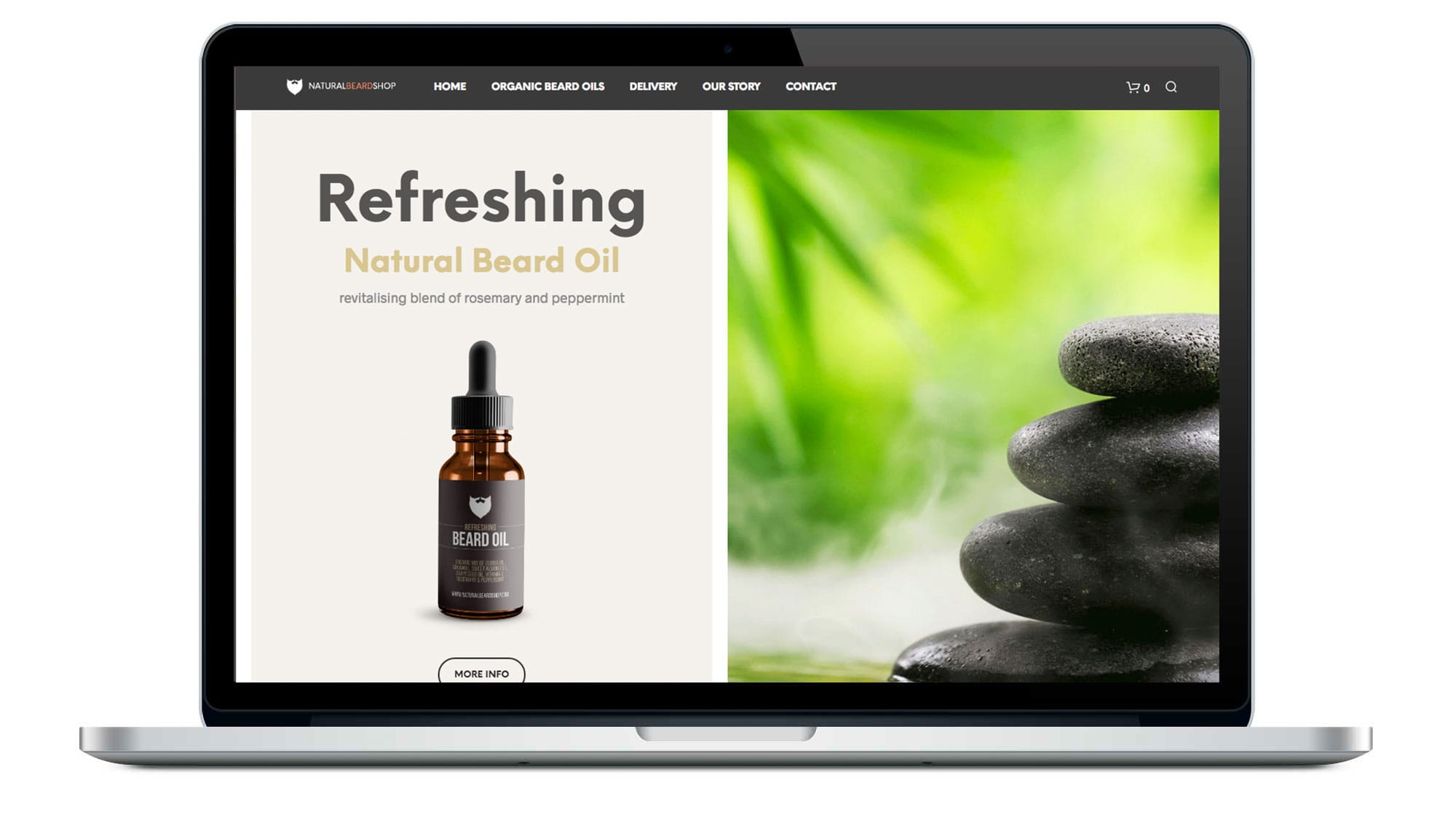 Natural Beard Shop Website
