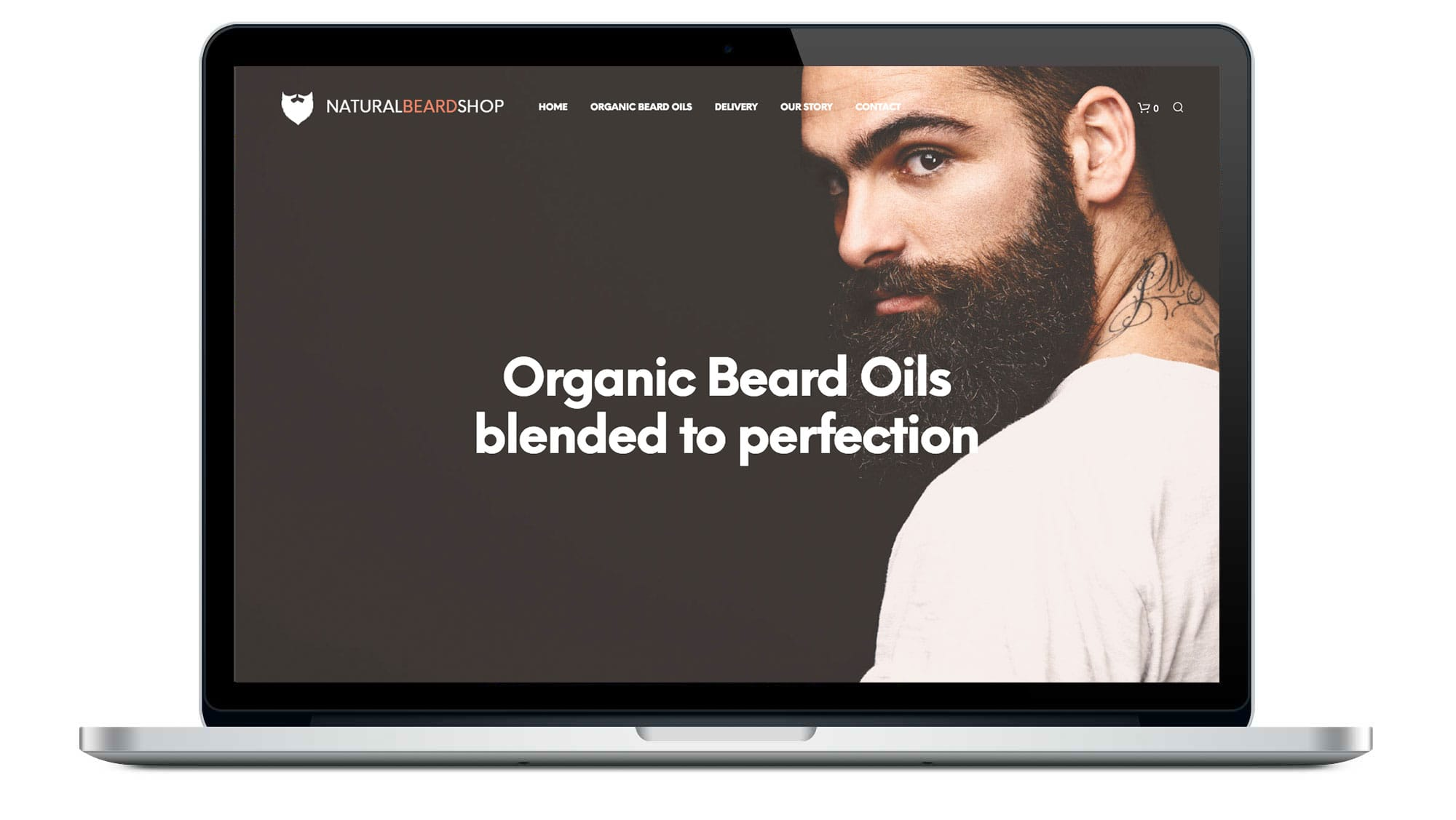 Natural Beard Shop Homepage