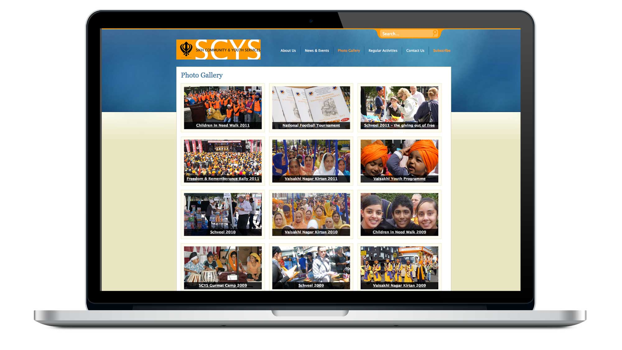 Sikh Community & Youth Services (SCYS) Website Gallery Page